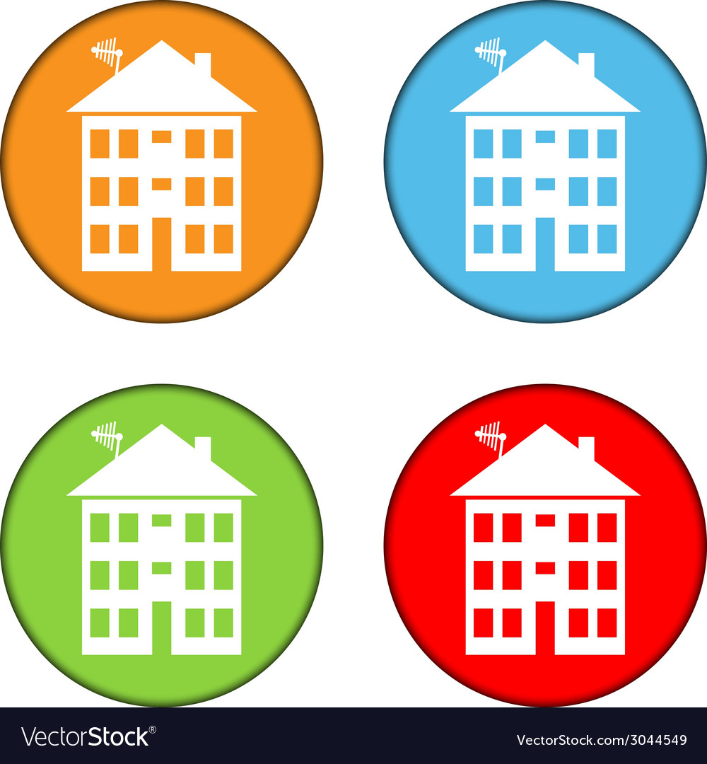 Apartment house buttons set vector | Price: 1 Credit (USD $1)