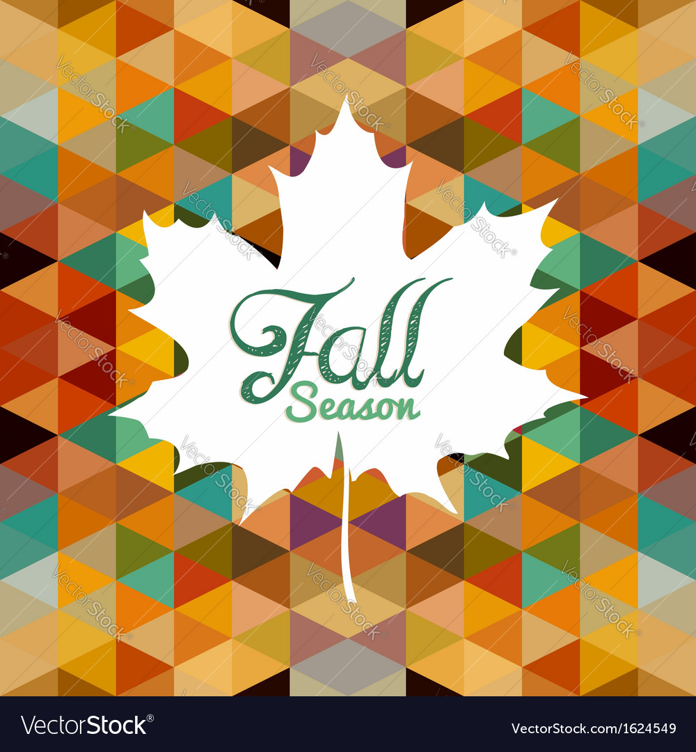 Autumn leaf text with triangles background eps10 vector | Price: 1 Credit (USD $1)