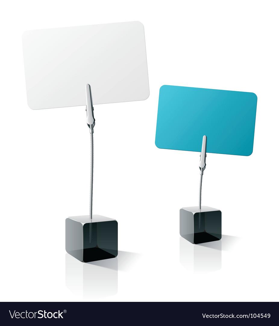 Card holders vector