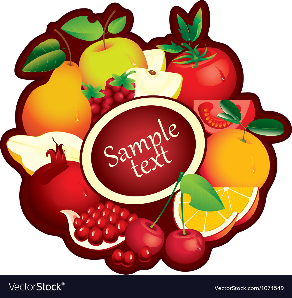 Fruits range vector | Price: 1 Credit (USD $1)