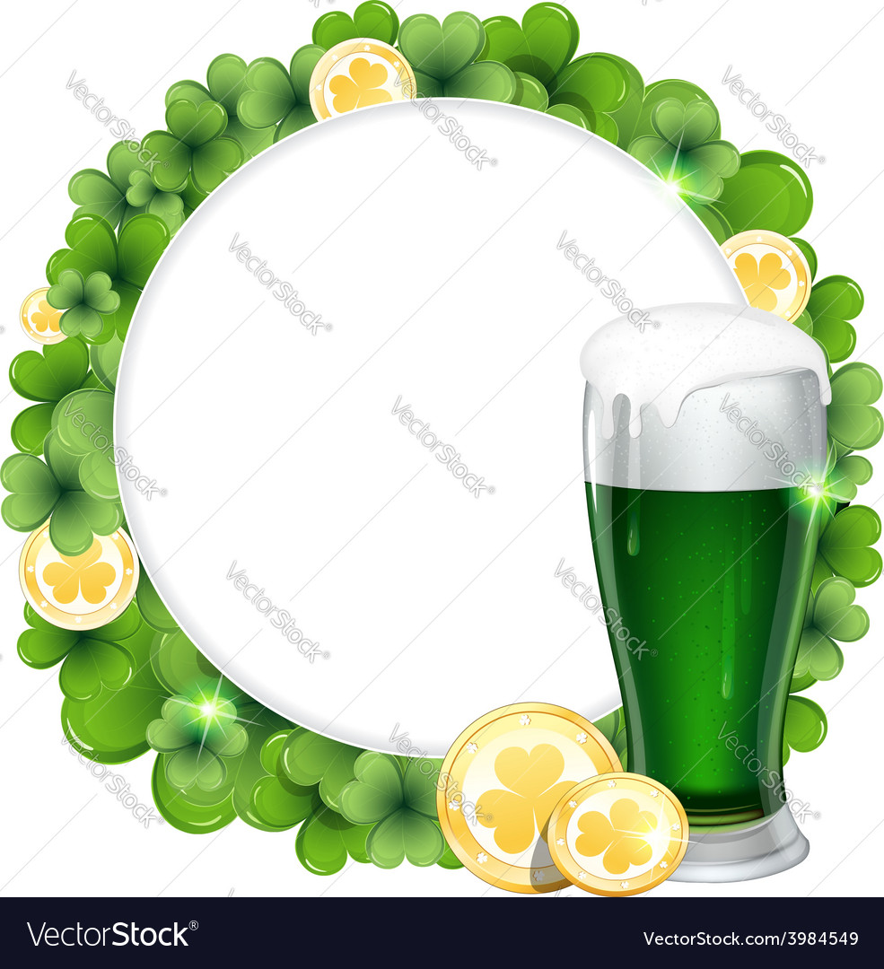 Green beer and gold coins vector | Price: 1 Credit (USD $1)