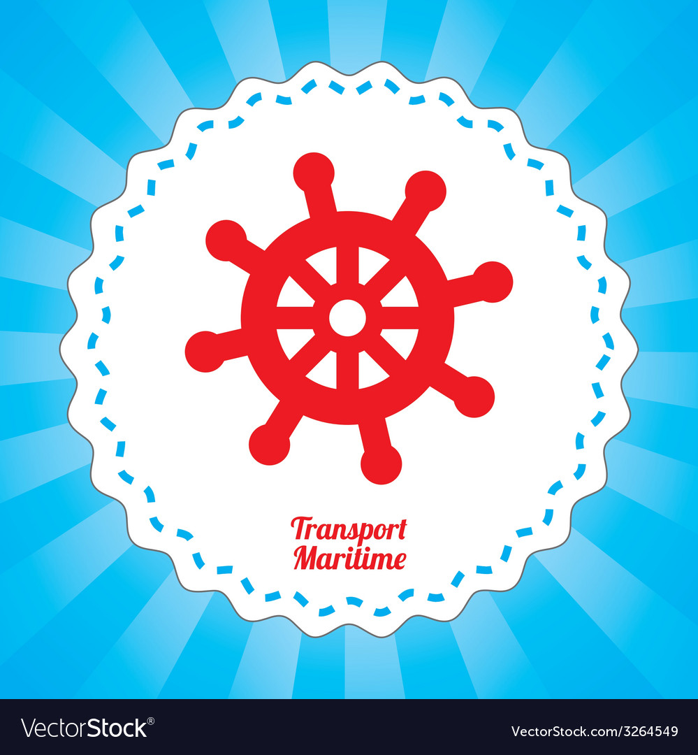 Maritime transport design vector | Price: 1 Credit (USD $1)