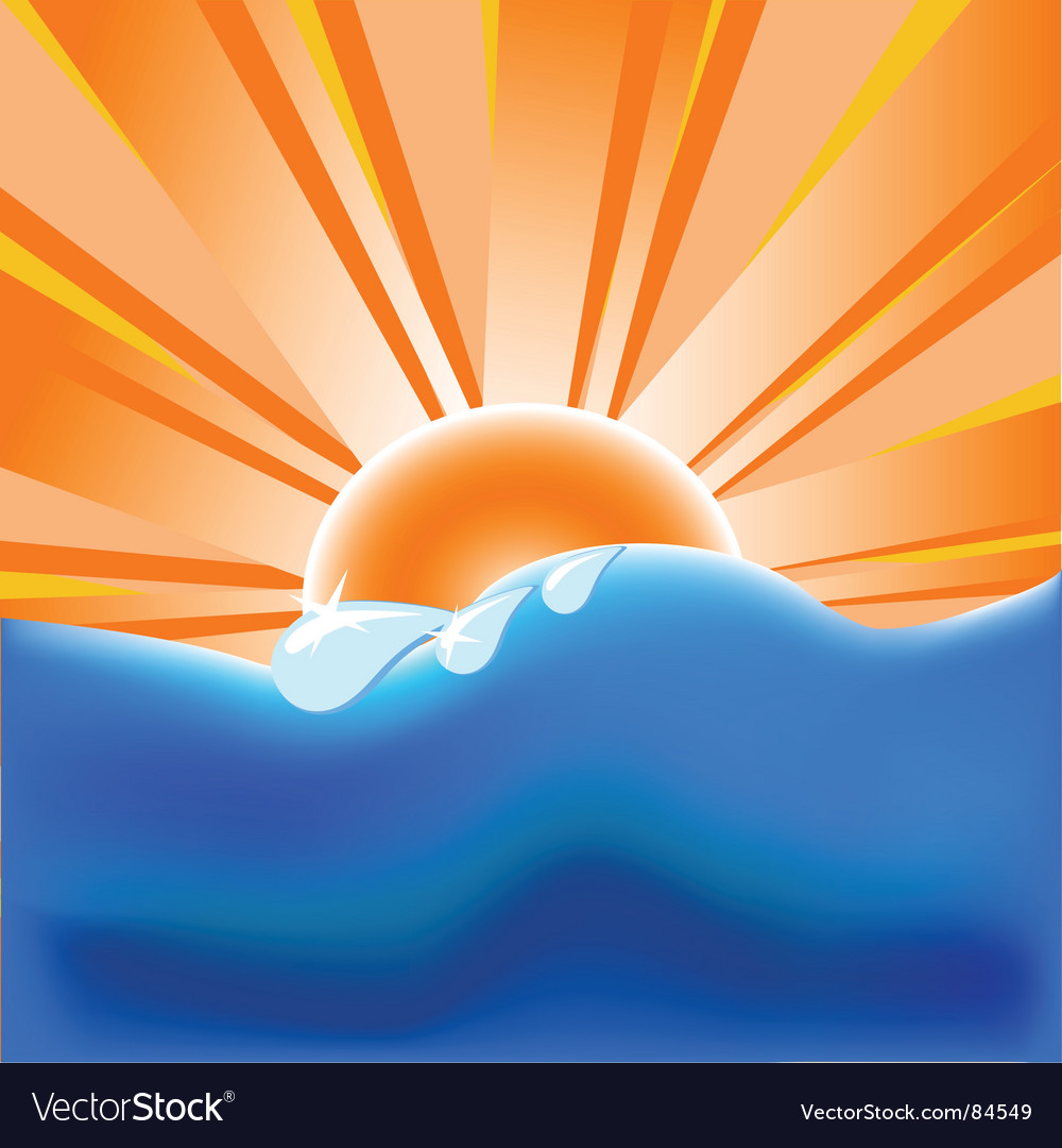 Summer background with vector | Price: 1 Credit (USD $1)