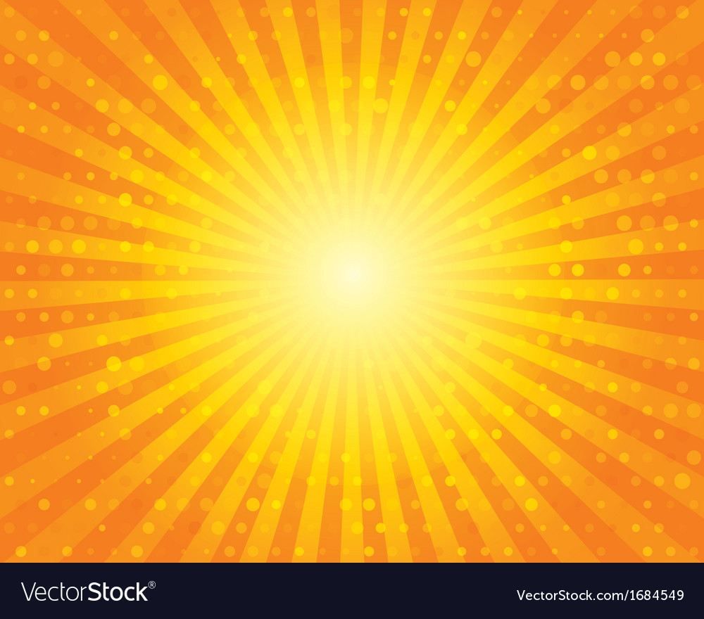 Sun sunburst pattern with circles orange sky vector | Price: 1 Credit (USD $1)