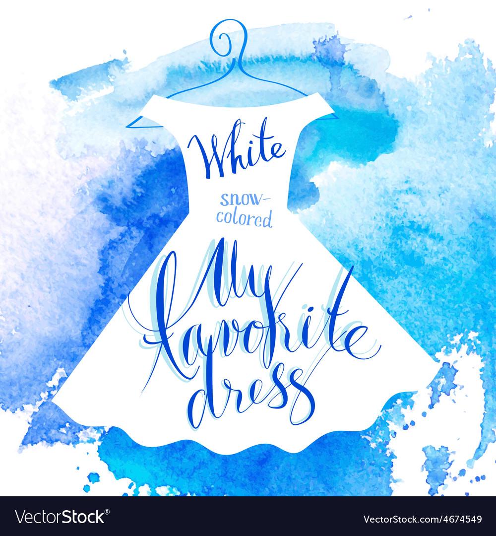 Watercolor dress vector   Price: 1 Credit (USD $1)