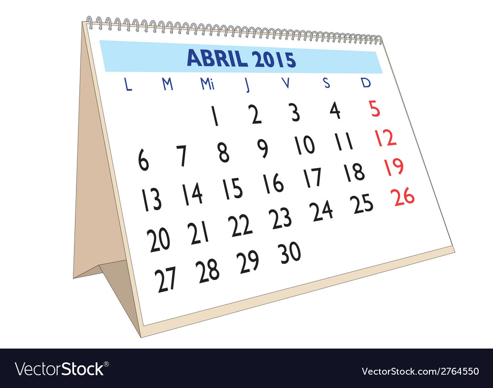 Abril 2015 vector | Price: 1 Credit (USD $1)