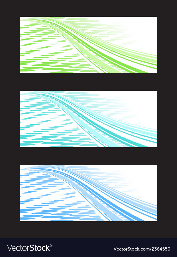 Abstract background banner in three color vector | Price: 1 Credit (USD $1)