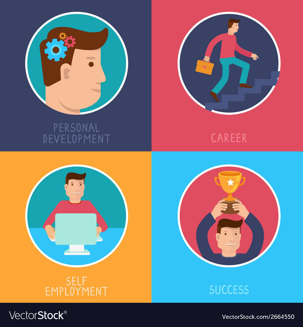 Business success concepts in flat style vector | Price: 1 Credit (USD $1)
