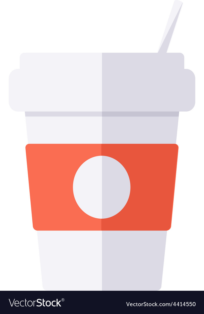 Coffee disposable cup vector | Price: 1 Credit (USD $1)