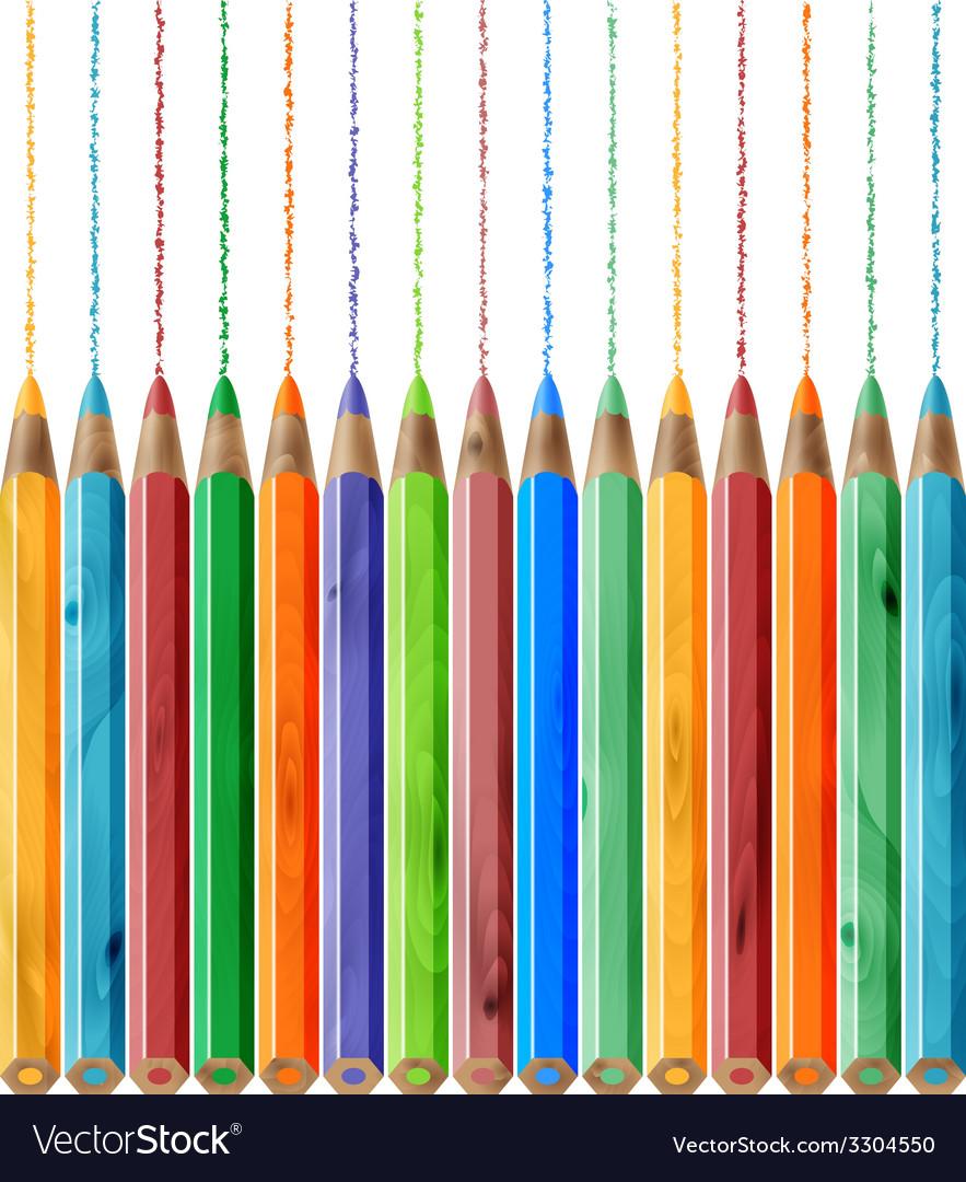 Color pencil set vector | Price: 1 Credit (USD $1)