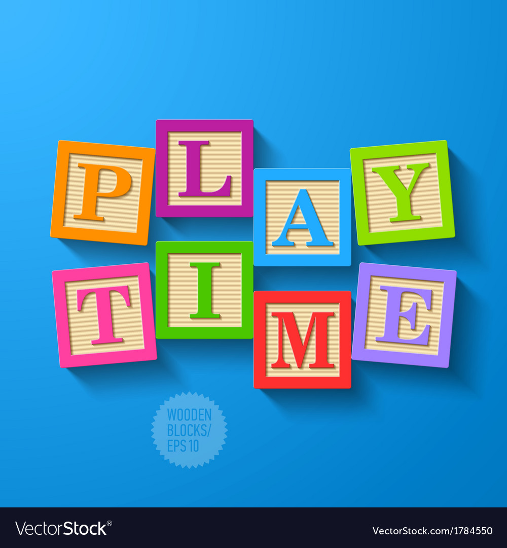 Play time vector | Price: 1 Credit (USD $1)