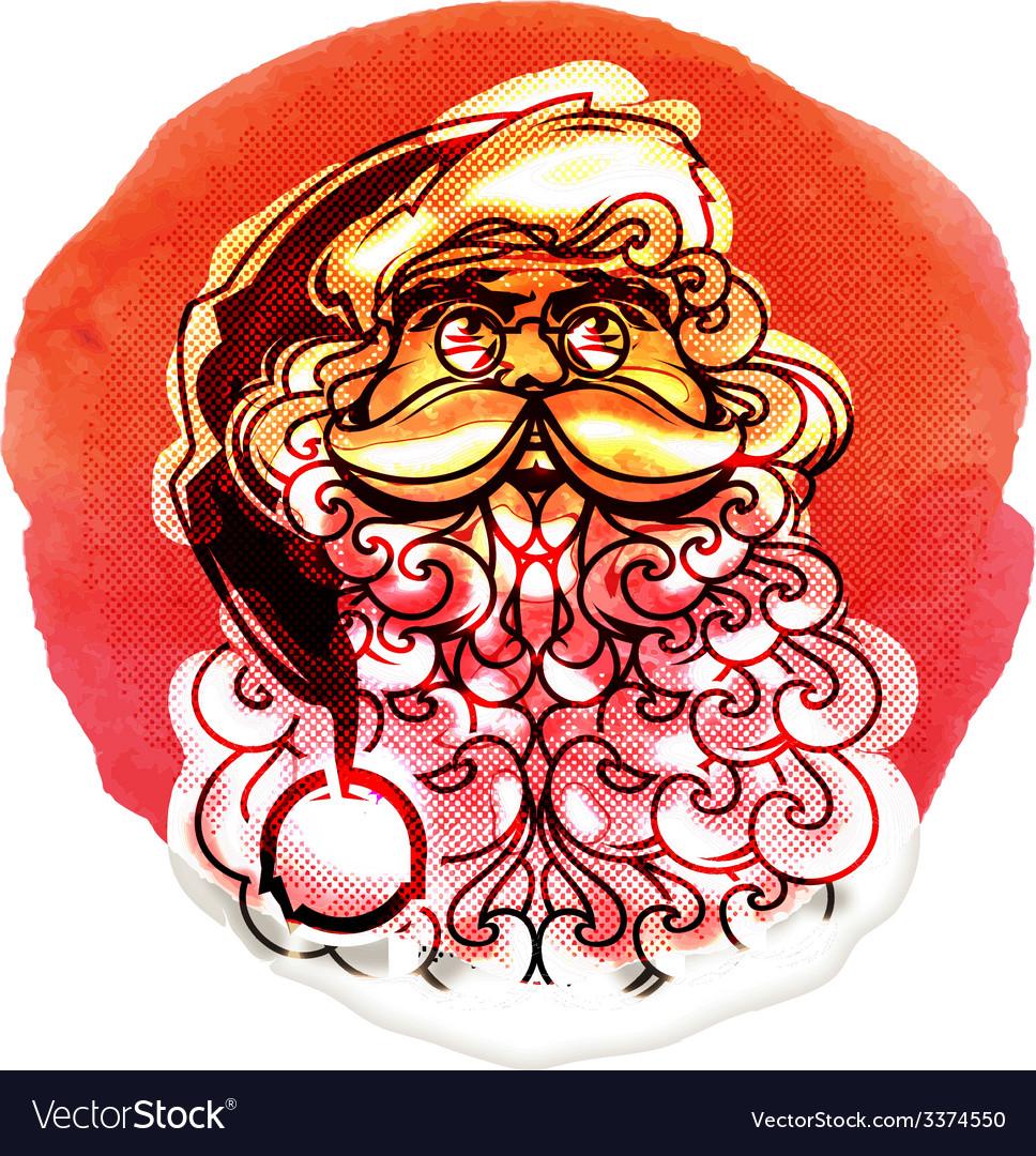 Santa claus merry christmas vector | Price: 1 Credit (USD $1)