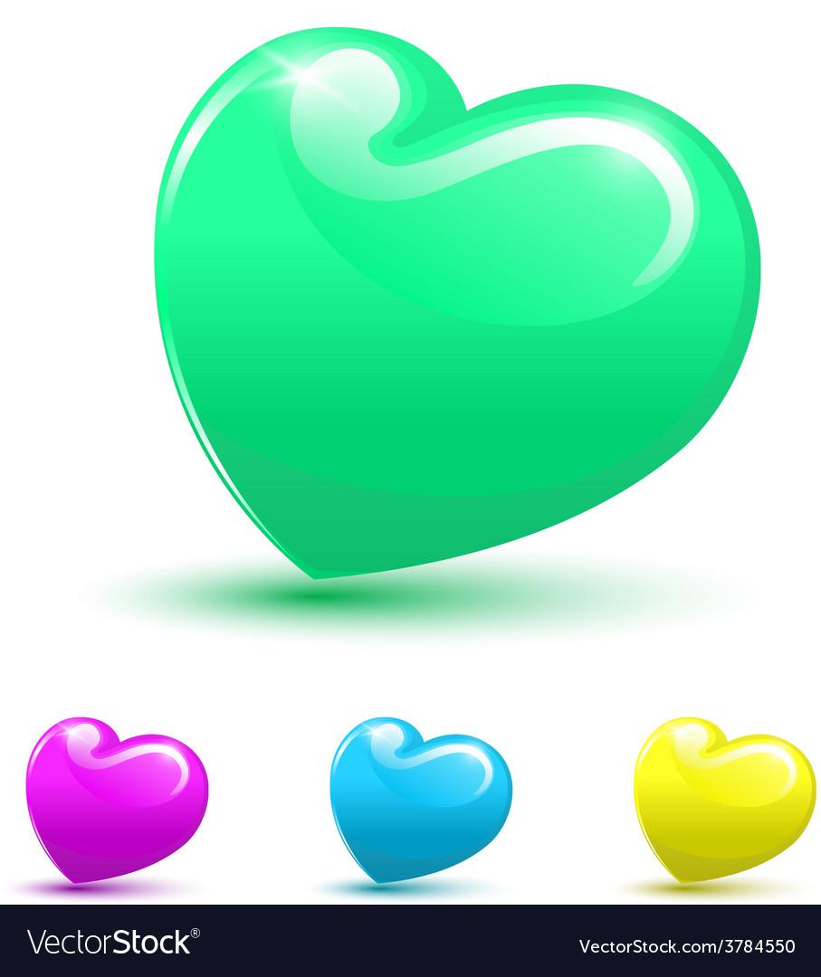 Valentine heart 3d set vector | Price: 1 Credit (USD $1)