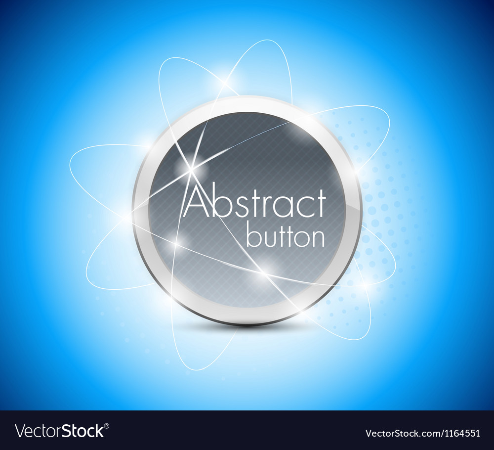 Abstract blue button vector | Price: 1 Credit (USD $1)