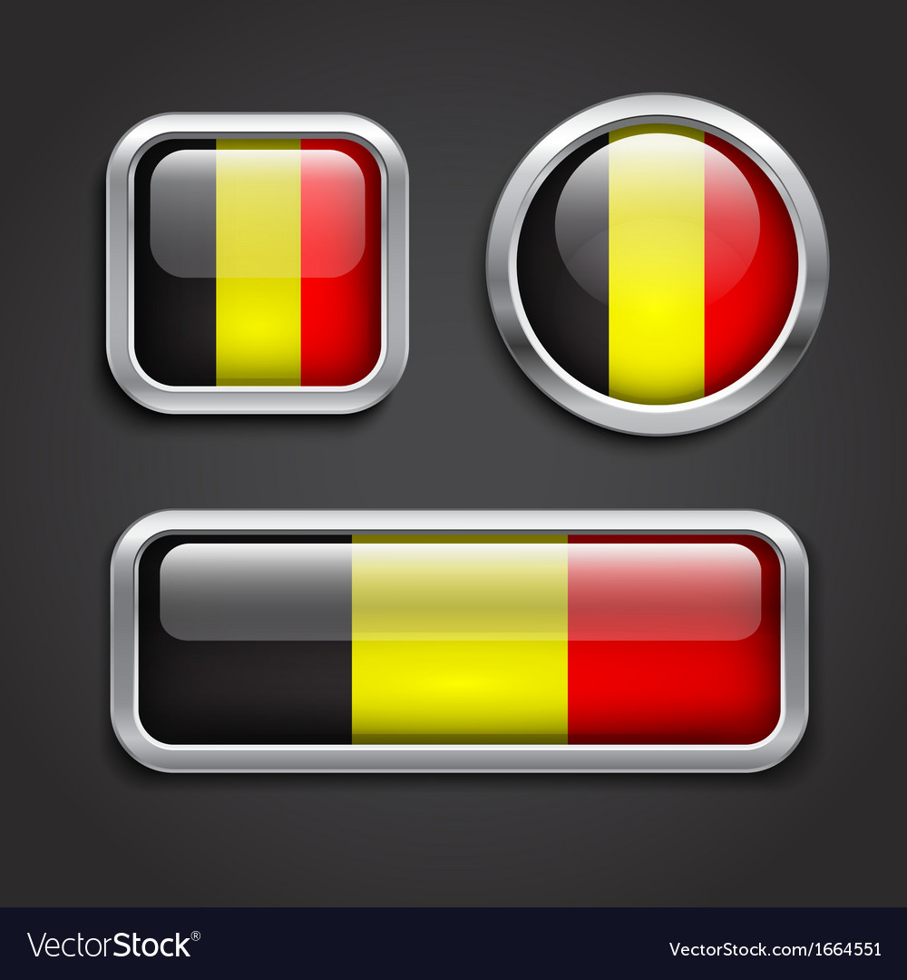Belgium flag glass buttons vector | Price: 1 Credit (USD $1)