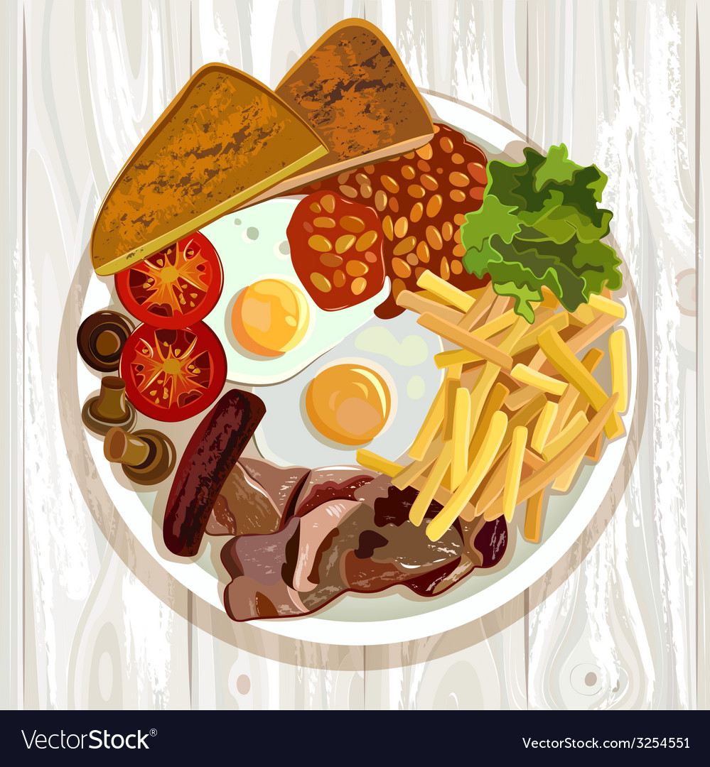 English breakfast vector | Price: 1 Credit (USD $1)