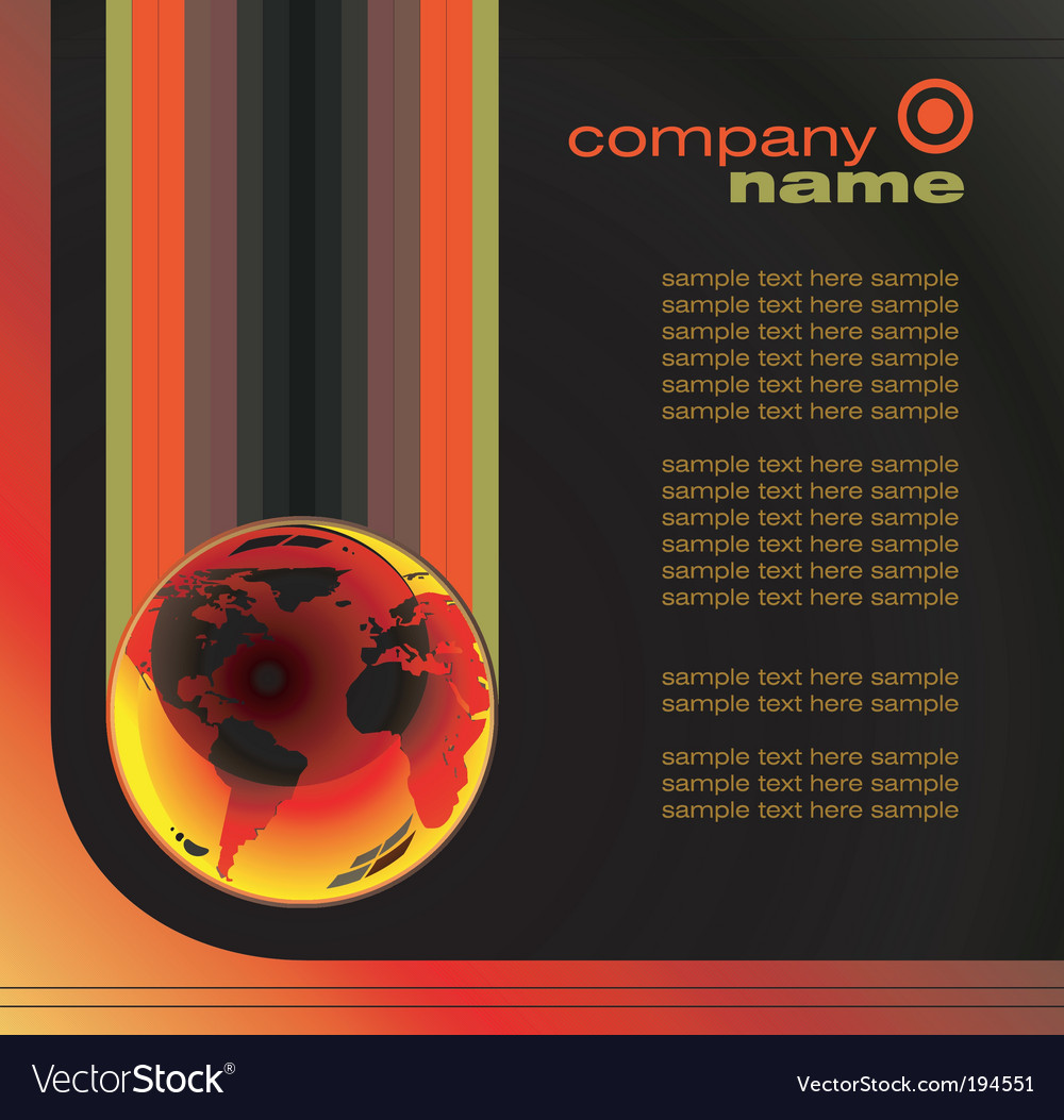 Global business card vector | Price: 3 Credit (USD $3)