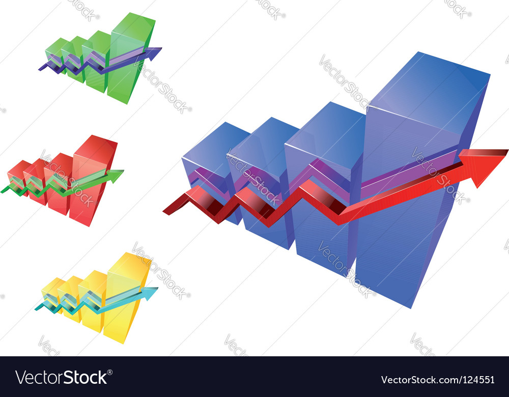 Glossy graphs vector | Price: 1 Credit (USD $1)