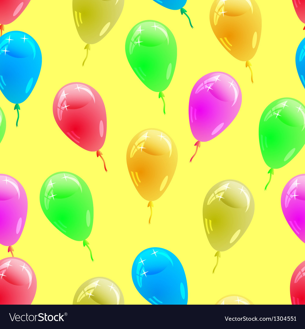 Glossy multicolored balloons seamless wallpaper vector   Price: 1 Credit (USD $1)