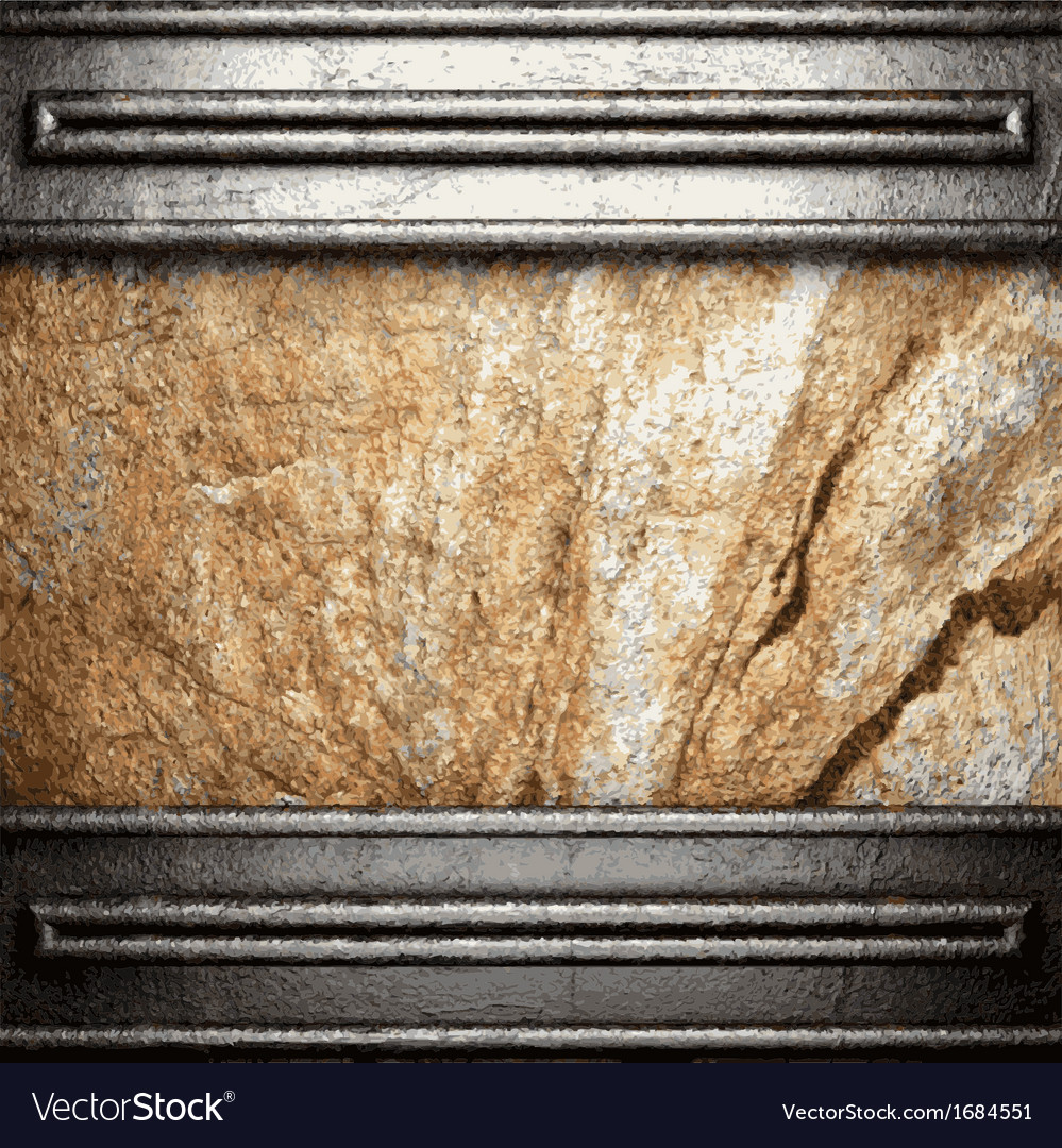 Metal and stone background vector | Price: 1 Credit (USD $1)