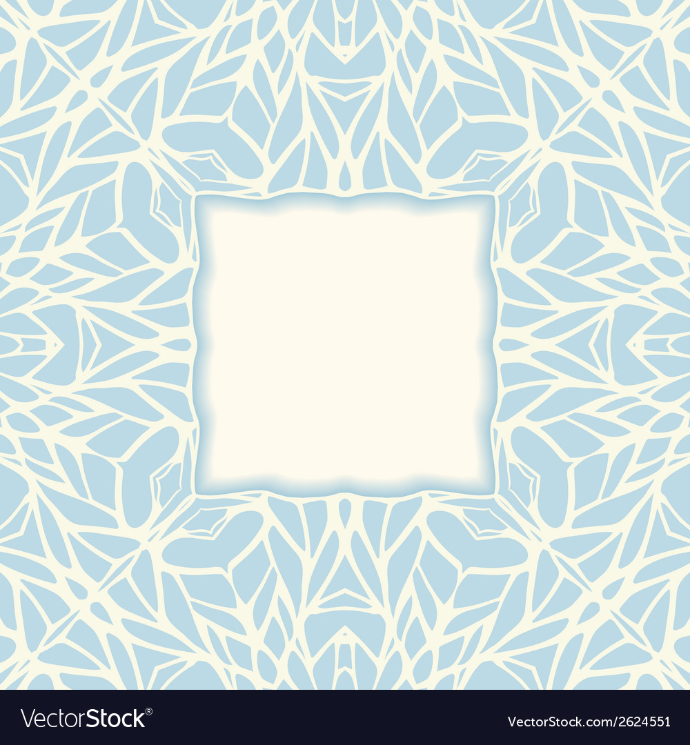Mosaic square ornamental abstract background vector | Price: 1 Credit (USD $1)