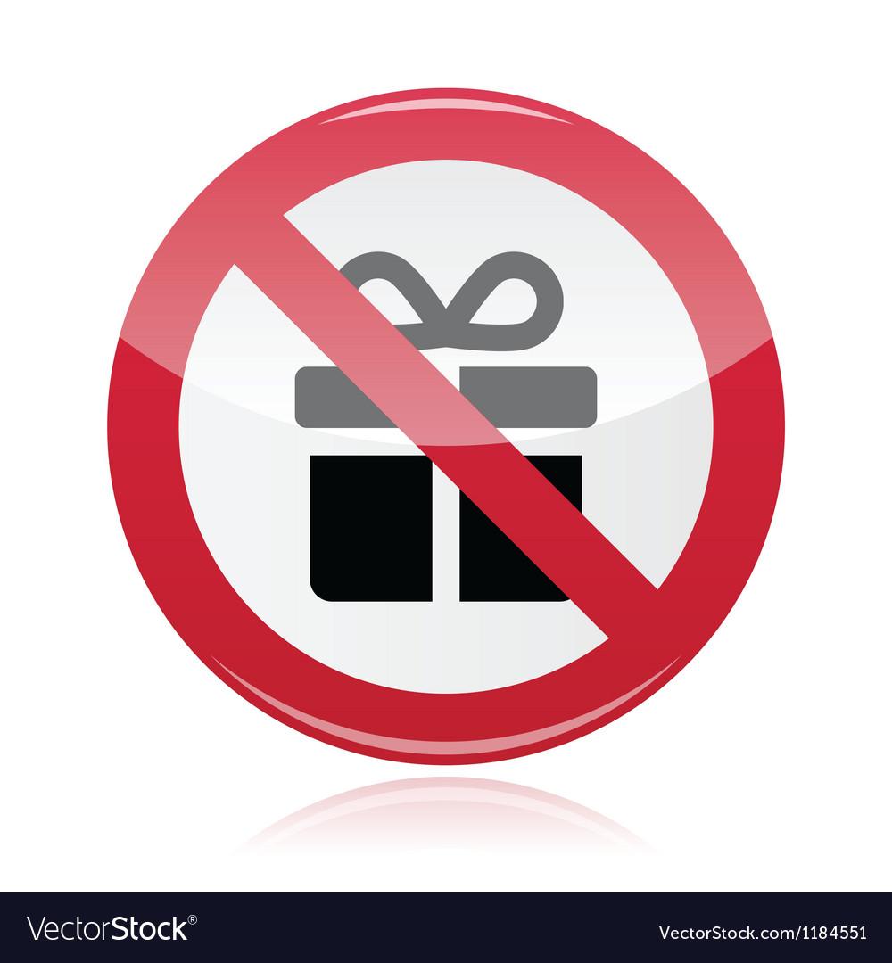 No presents red warning signs - vector | Price: 1 Credit (USD $1)