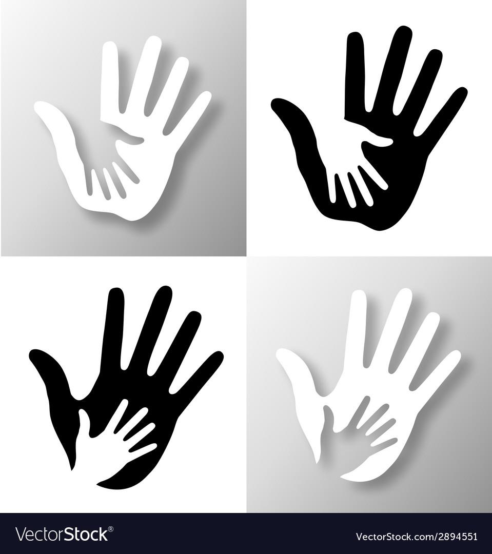 Set of caring hands vector | Price: 1 Credit (USD $1)