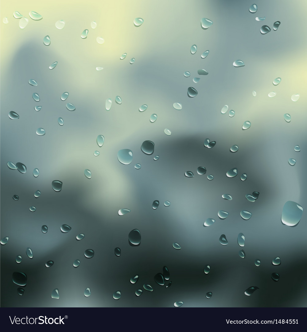 Water drops on glass vector | Price: 1 Credit (USD $1)