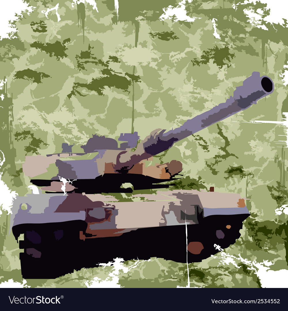 Army background with tank apparel print vector | Price: 1 Credit (USD $1)