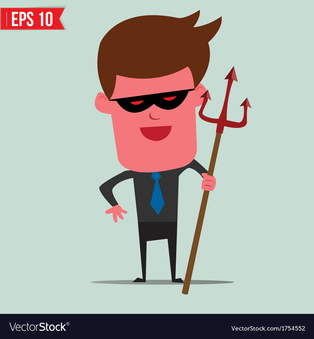 Devil business man - - eps10 vector | Price: 1 Credit (USD $1)