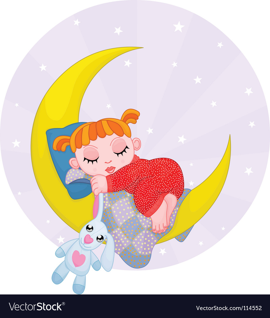 Dreaming girl vector | Price: 3 Credit (USD $3)