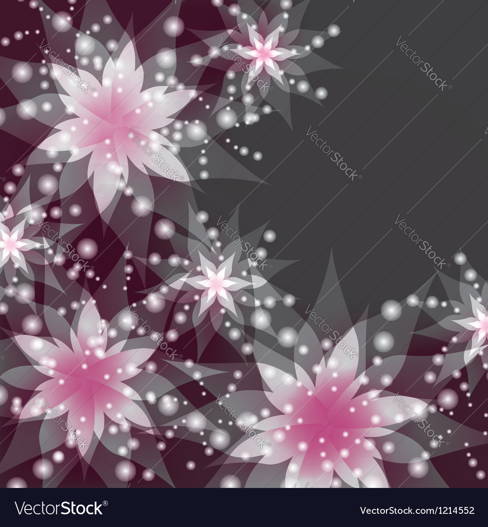 Floral background greeting or invitation card vector | Price: 1 Credit (USD $1)
