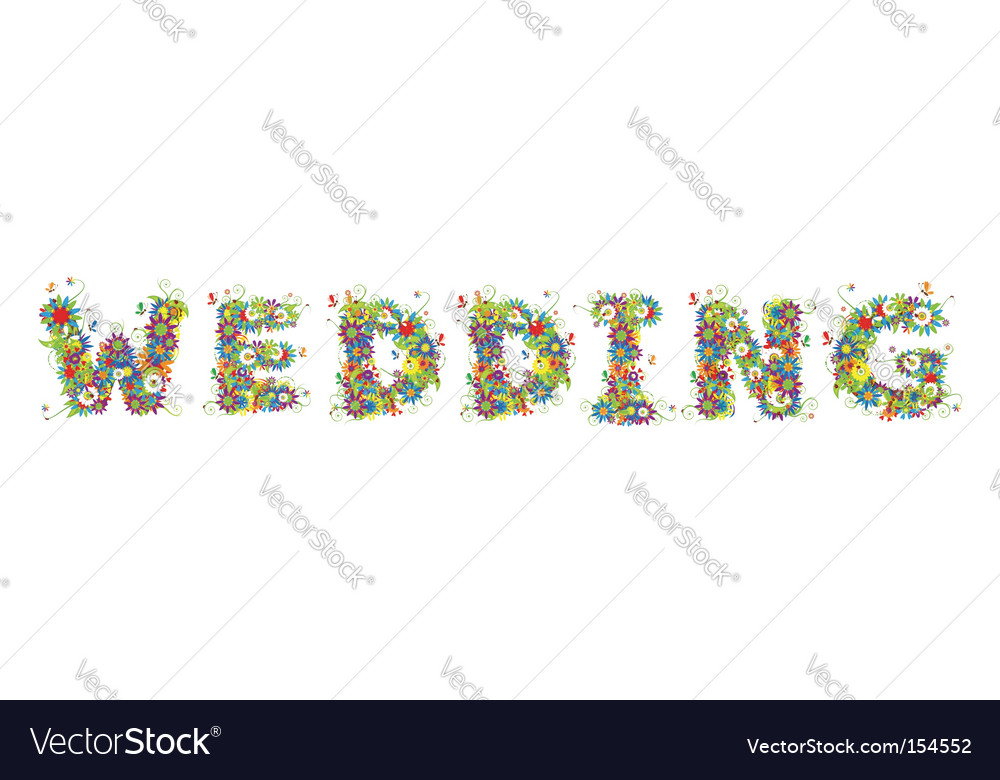 Flower wedding vector | Price: 1 Credit (USD $1)