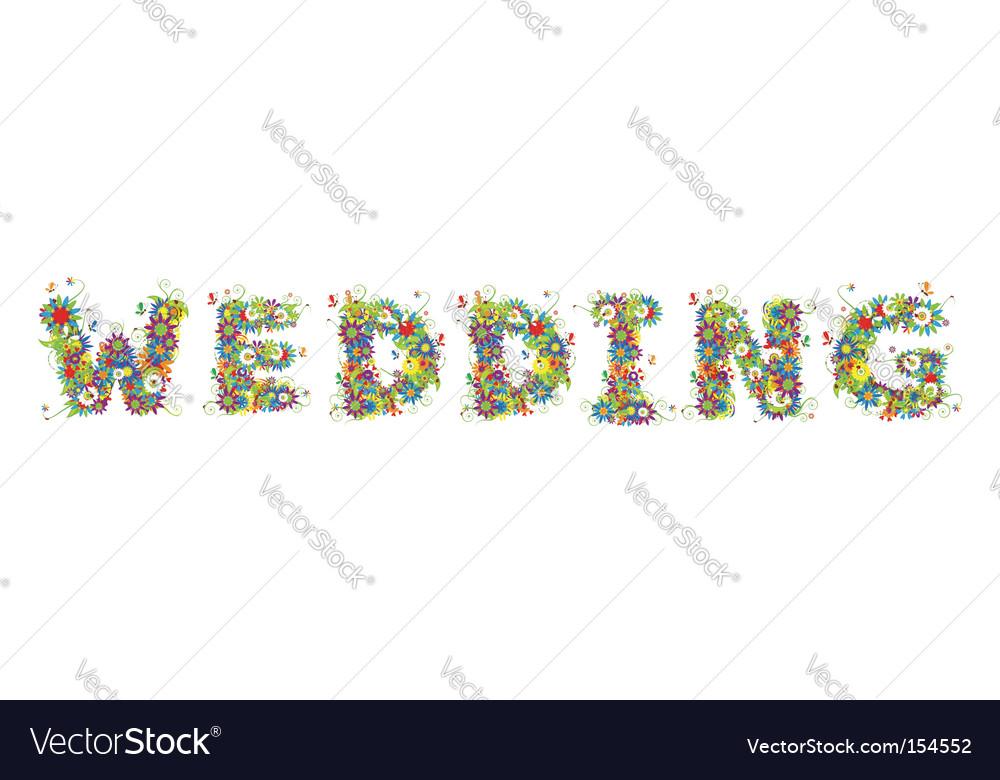 Flower wedding vector | Price: 1 Credit (USD $1)