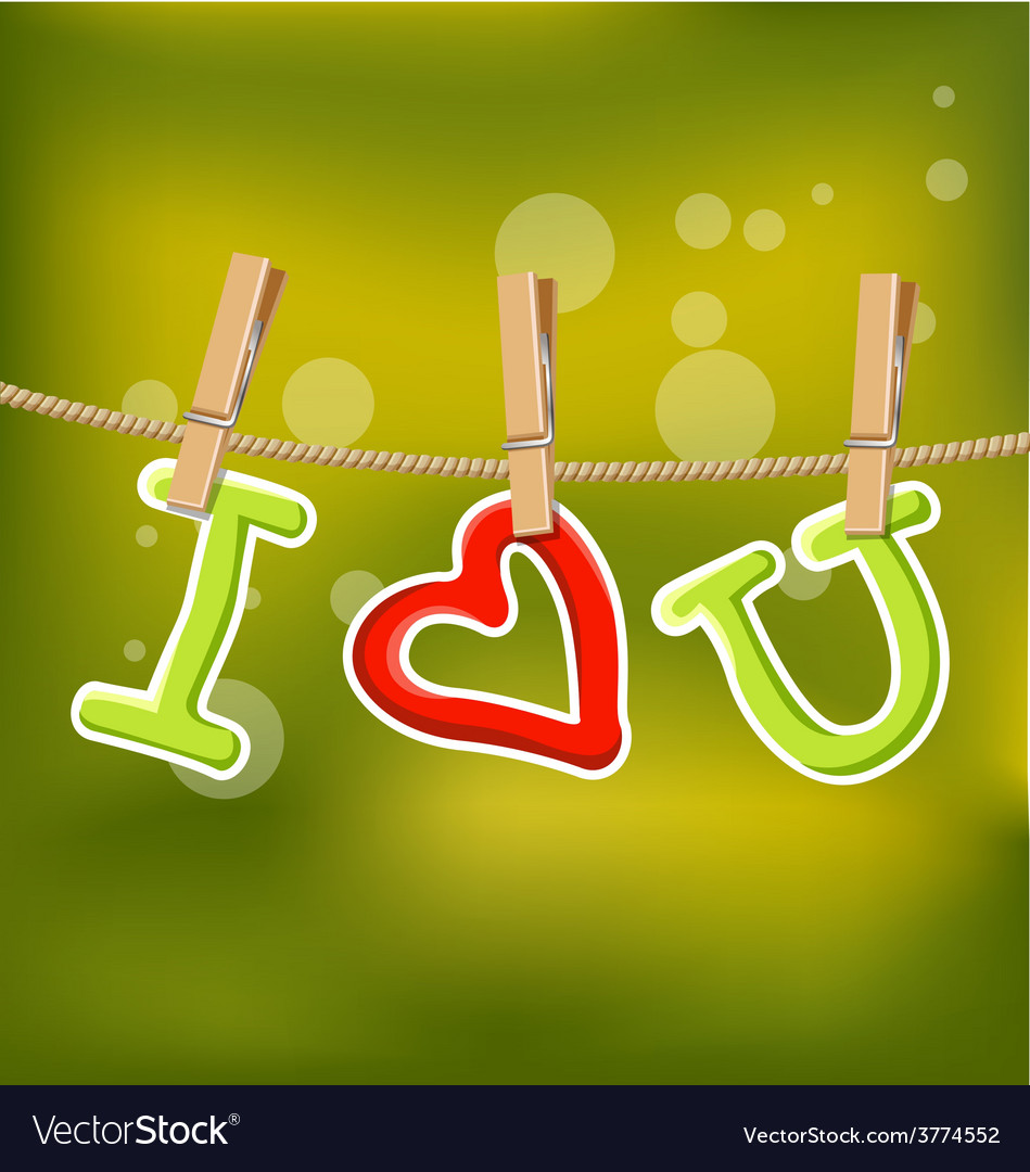 I love you under line rope vector | Price: 1 Credit (USD $1)