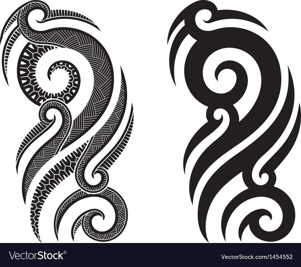 Maori tattoo pattern vector | Price: 1 Credit (USD $1)