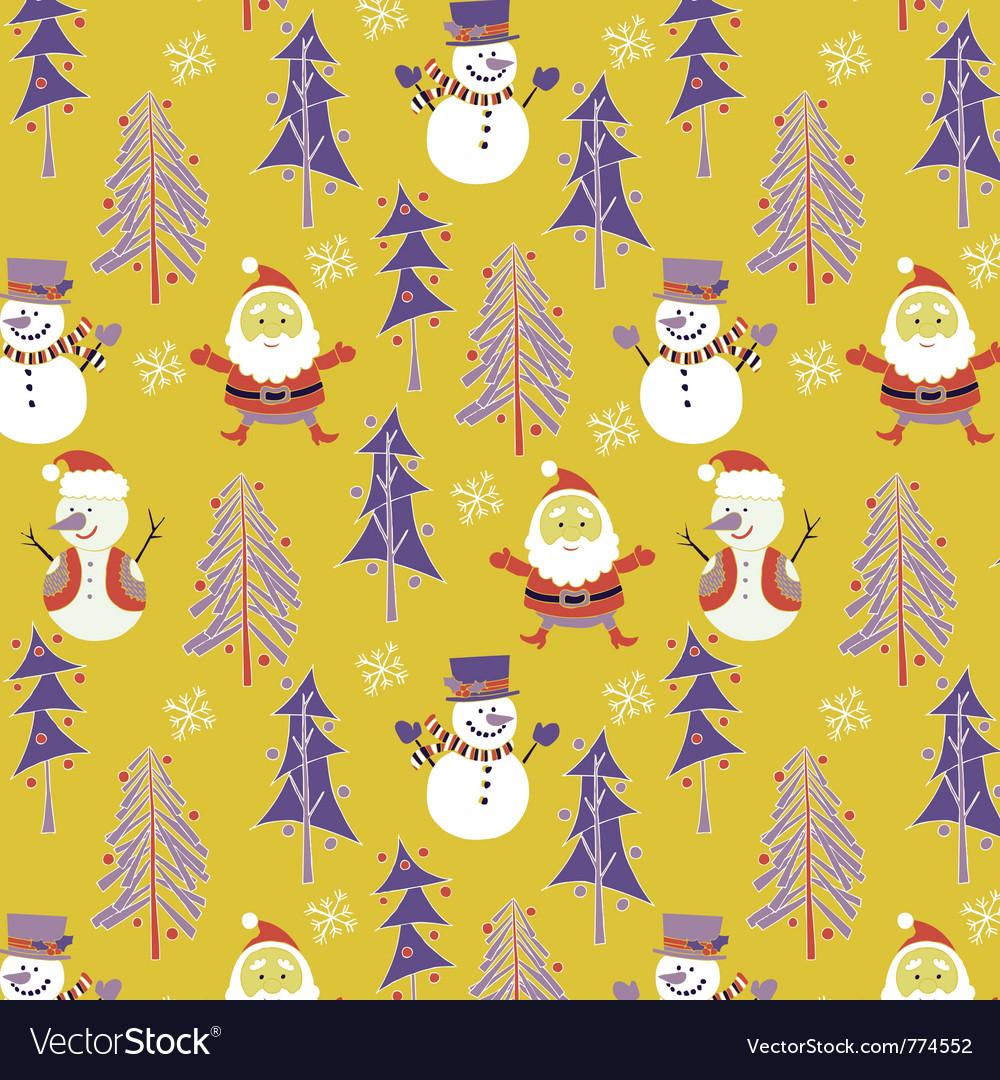 Santa winter wallpaper vector | Price: 1 Credit (USD $1)