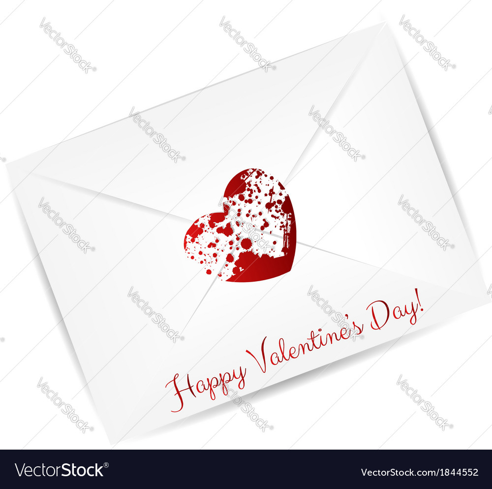 Valentine day envelope vector | Price: 1 Credit (USD $1)