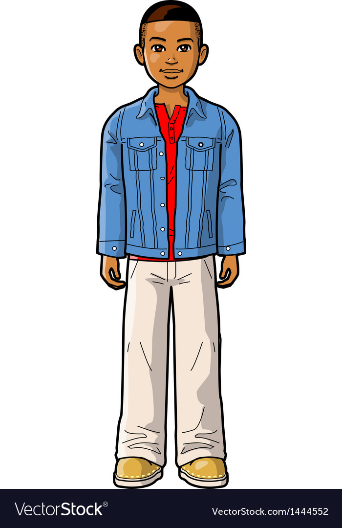 Young ethnic boy vector | Price: 1 Credit (USD $1)