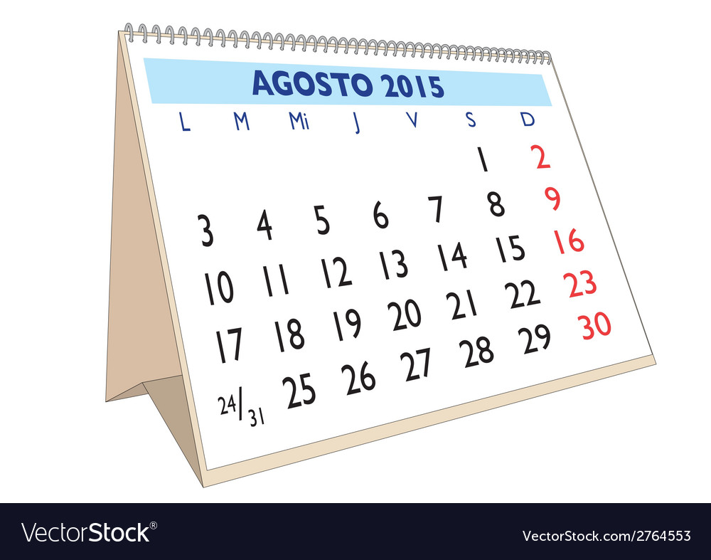 Agosto 2015 vector | Price: 1 Credit (USD $1)