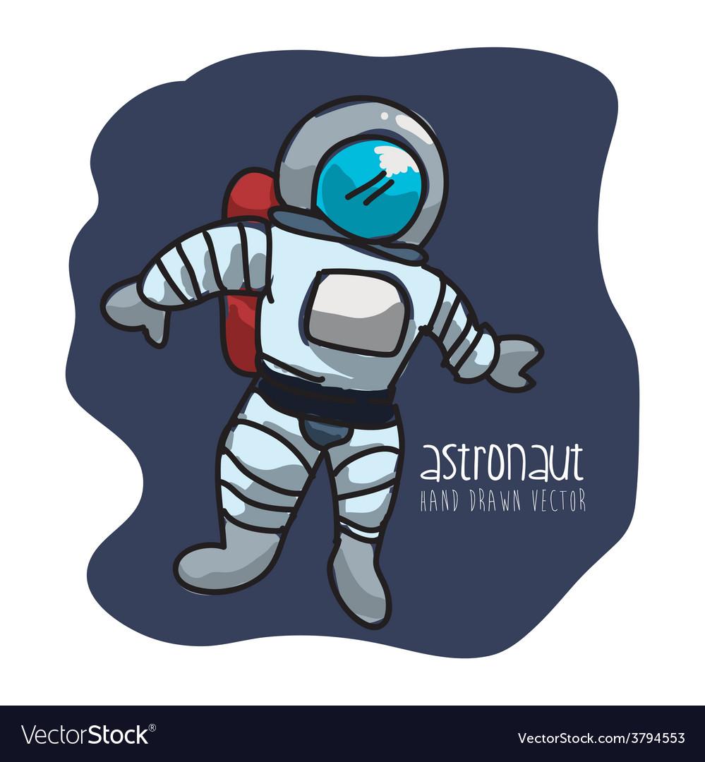 Astronaut drawn vector | Price: 1 Credit (USD $1)