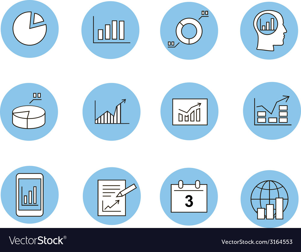 Business infographic icons - graphics vector | Price: 1 Credit (USD $1)