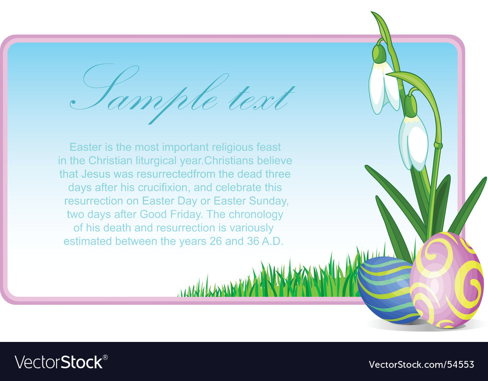 Easter eggs and flowers vector | Price: 1 Credit (USD $1)