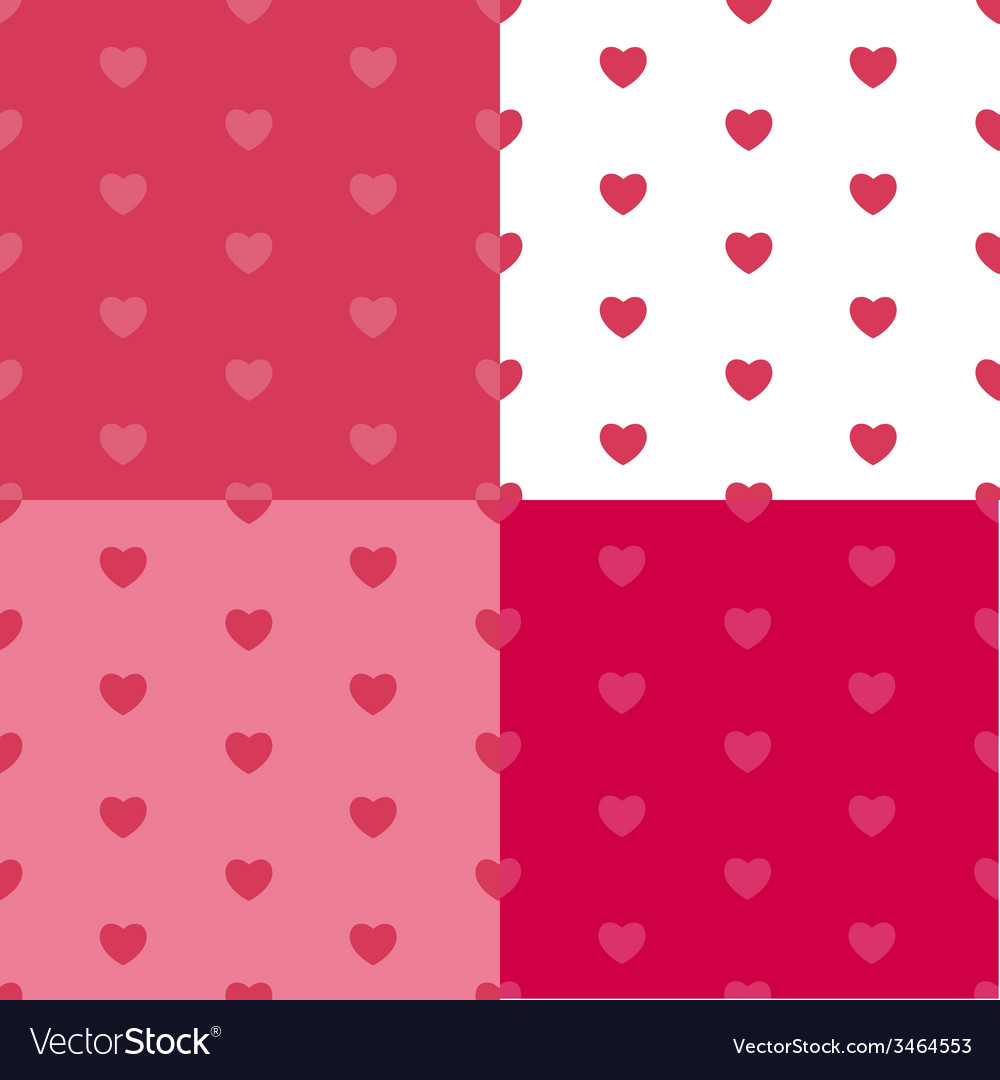 Happy valentines day seamless pattern background vector | Price: 1 Credit (USD $1)