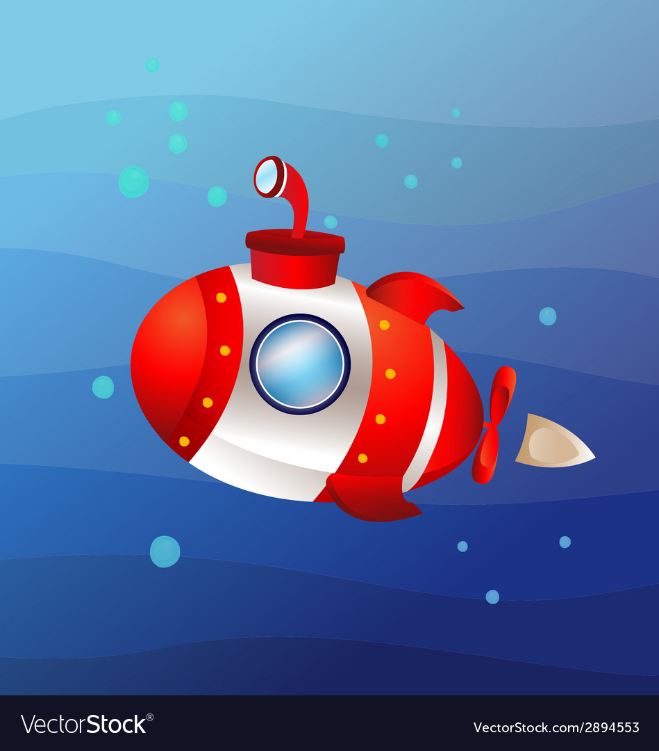 High speed submarine vector | Price: 1 Credit (USD $1)