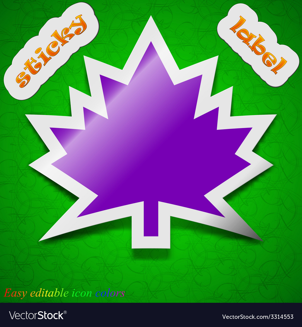 Maple leaf icon sign symbol chic colored sticky vector   Price: 1 Credit (USD $1)