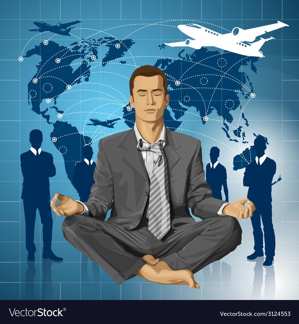 Meditating vector | Price: 3 Credit (USD $3)