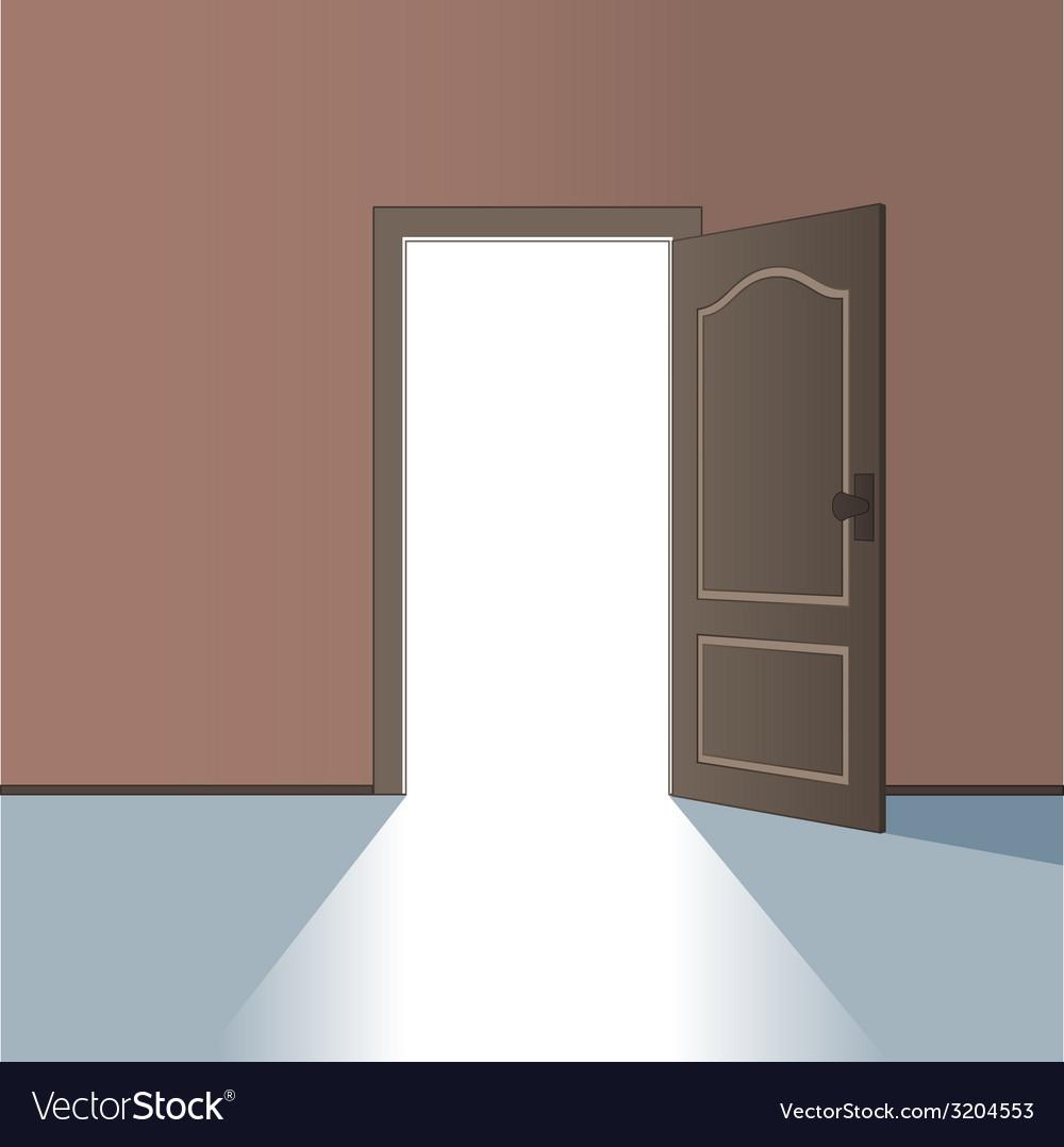 Opened door vector | Price: 1 Credit (USD $1)