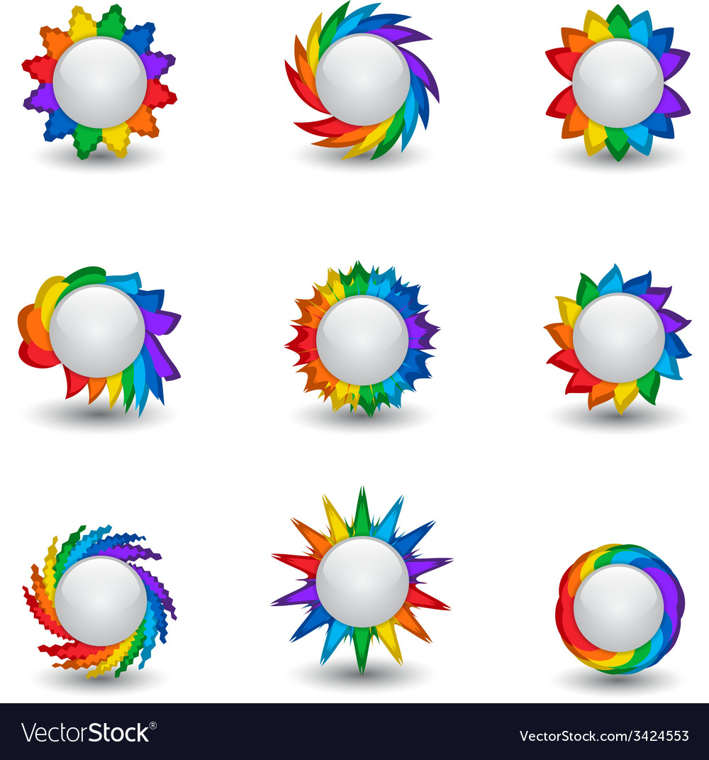 Rainbow buttons vector   Price: 1 Credit (USD $1)