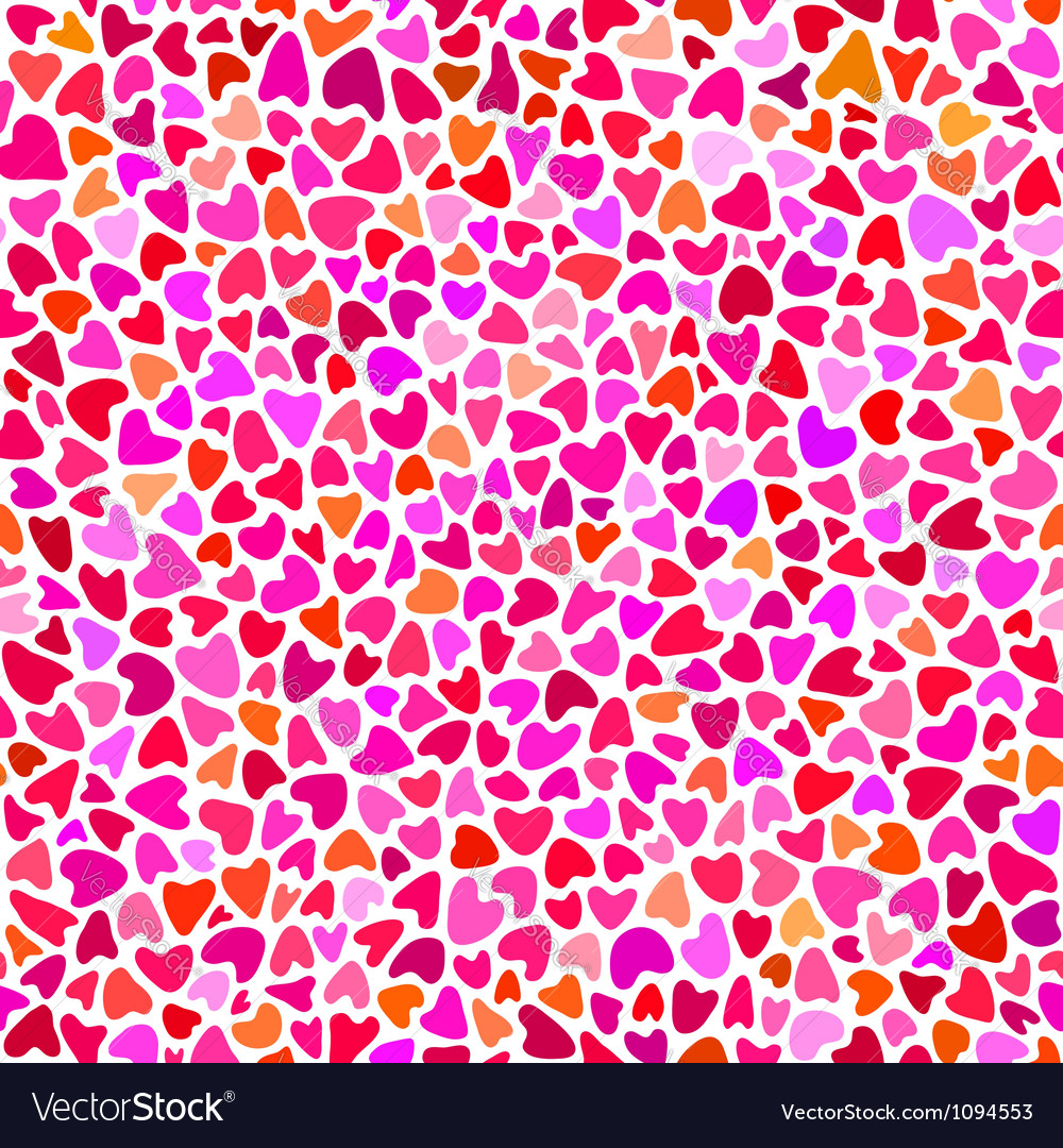 Seamless hand drawn pattern with hearts vector | Price: 1 Credit (USD $1)
